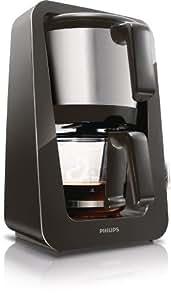 Philips HD7688/20 Kaffeemaschine (1400 Watt, 12 Tassen, Tropf-Stopp) matt-schwarz