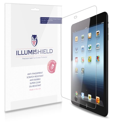 Illumishield - Apple Ipad Mini 2 / 3 Screen Protector Japanese Ultra Clear Hd Film With Anti-Bubble And Anti-Fingerprint - High Quality (Invisible) Lcd Shield - Lifetime Replacement Warranty - [3-Pack] Oem / Retail Packaging (Ipad Mini With Retina Display