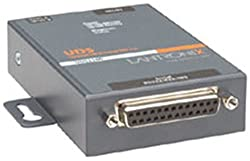 Lantronix EXTERNAL DEVICE SERVER 1PORT 1 x DB25F DCE, 1 x 10/100 Base, UD1100002-01 (1 x DB25F DCE, 1 x 10/100 Base -T RJ-45, DSTNI-EX 48 MHz, 256 KB SRAM, 2 MB Flash, LED)