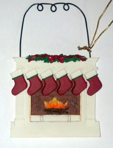 Sale personalized fireplace stockings ornament 6 for Stocking clips for fireplace