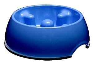 Dogit Go Slow Anti-Gulping Dog Bowl, Blue, Medium