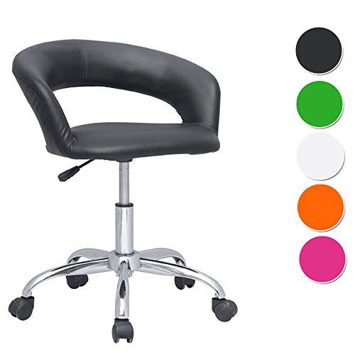 SixBros. Design sgabello girevole da lavoro sedia da ufficio nero - M-95098/721