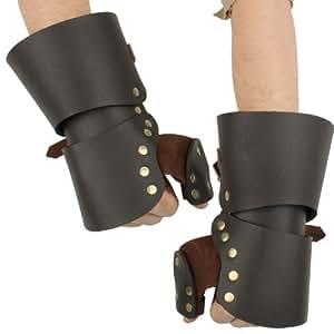 Medieval Leather Gauntlets