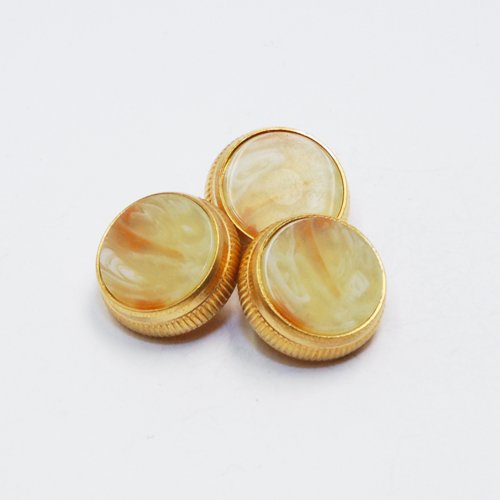 Bach Stradivarius Trumpet Finger 24K Gold-Plated Buttons Set Of 3 With Kelp Forest Custom Inlay