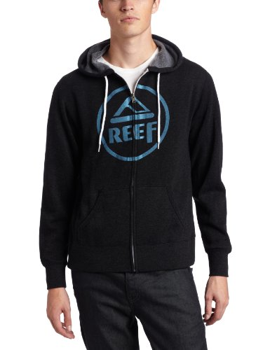Reef Vintage Circle Zip Men's Sweatshirt Charcoal Blue X-Small