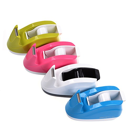COSMOS® Heavy Duty Tape Dispenser ,Weighted Base, Nonskid Pad for One-hand Dispensing Color Random (808) (Mini Tape Dispenser compare prices)