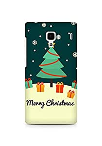 Amez designer printed 3d premium high quality back case cover for Xiaomi Redmi 1S (Christmas card greeting)