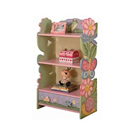 Magic Garden-Carved Book Shelf With Draw