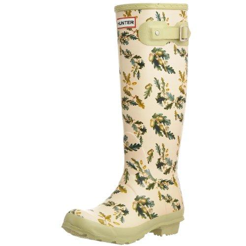 Hunter Women's RHS Tall Wellies Oak Leaves & Acorns W23605 8 UK