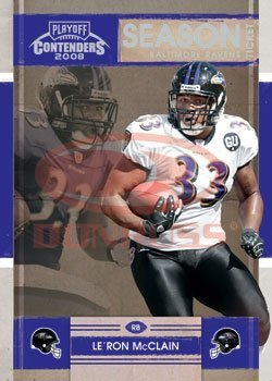 2008 Playoff Contenders Season Tickets Football Card # 10 Le'Ron McClain - Baltimore Ravens - NFL Trading Card