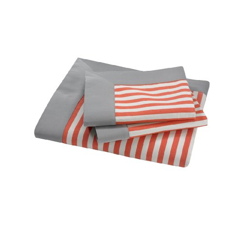 DwellStudio Draper Stripe Persimmon Full/Queen