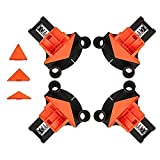 Yakuin Multi-angle Woodworking Clamps,60/90/120 Degree Clamps for Woodworking,Adjustable Corner Clamps Right Angle Clamp Wood Clamps Home Woodworking Tools For Beginner and Woodworker (Color: Orange, Tamaño: 1set)