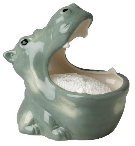 Nautical Ocean Hippo Soap Scrubby Holder