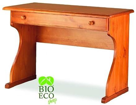 Bioecoshop Scrittoio/Scrivania In Legno Di Pino Massello Bioeco IL MAR Tinta Miele