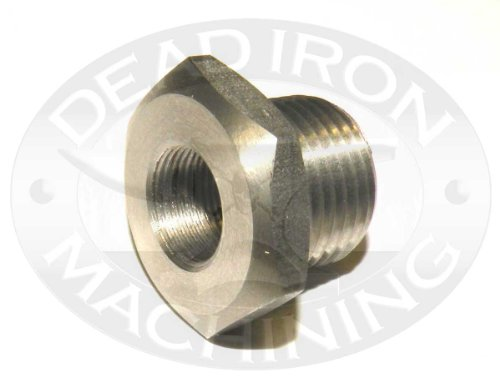1/2-28 ID X 13/16 - 16 Stainless Steel Patch Trap Adapter