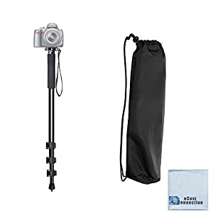 "Pro Series 72"" Monopod w/ Quick Release For Canon, Nikon, Sony, Samsung, Olympus, Fujifilm, Panasonic & Pentax + eCostConnection Microfiber Cloth"