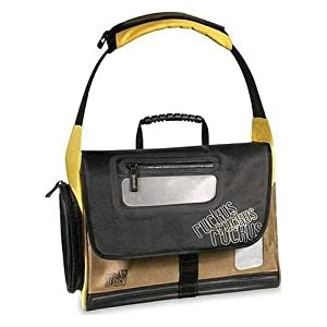 Pacific Design Ruckus Laptop Messenger Bag – Notebook carrying case – 15.4″ – yellow, olive, bold black