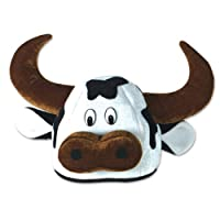 Plush Cow Head-Hat Party Accessory (1 count) from The Beistle Company