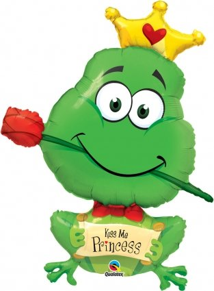Kiss Me Princess Frog Mylar - 1