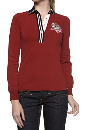 Galvanni Long Sleeve Polo Shirt SAIL CHAMP, Color: Burgundy, Size: M