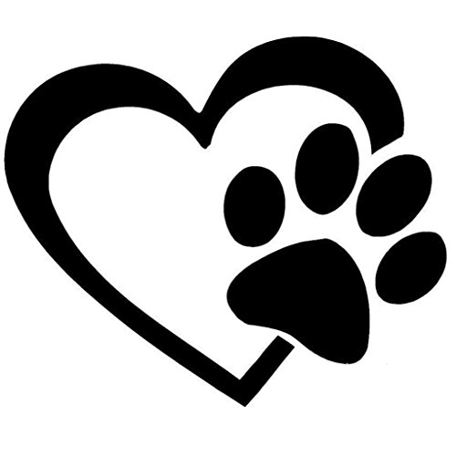 Stickers,Lisingtool HEART with DOG PAW Puppy Love Decal Window Sticker for Cars,Walls (Window Decals For Women compare prices)