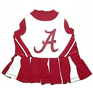 Pets First NCAA University of Alabama Crimson Tide Cheerleader Dog Outfit, Medium
