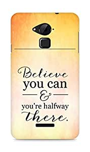 AMEZ believe you can and you are there halfway Back Cover For Coolpad Note 3