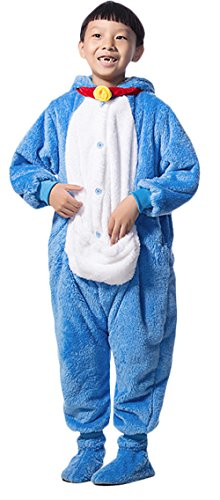 [Ace Halloween Unisex Children's Kids Cute Doraemon Kitty Animal Costumes (3Y-4Y)] (Child Pretty Kitty Costumes)