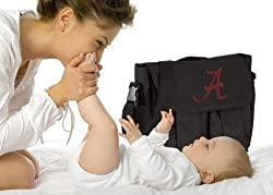 University of Alabama Diaper Bag Official NCAA College Logo Deluxe Alabama Crims