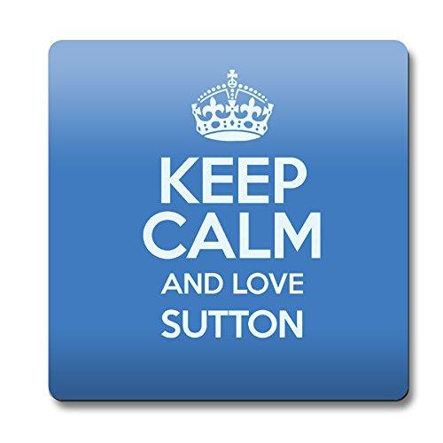 """Blu con scritta """"Keep Calm and Love Sutton Sottobicchiere 0638-Stivaletti colore alla caviglia"""