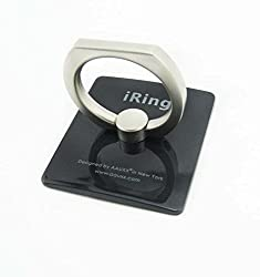 I Ring Universal Masstige Ring Grip/Stand Holder for any Smart Device - Black Color