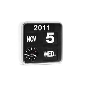 Karlsson Flip Clock Wall Clock Calendar Clock Square