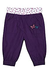 Chirpie Pie by Pantaloons Girl's Regular Fit Pants(205000005662003, Purple, 12-18 Months)