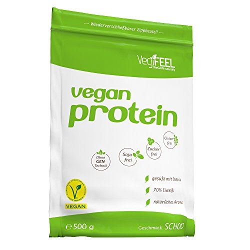 VegiFEEL Vegan Protein Schoko, 1er Pack (1 x 500 g)