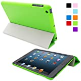 Snugg iPad Mini Ultra Thin Smart Case in Green - Flip Stand Cover with Auto Wake and Sleep for Apple iPad Mini