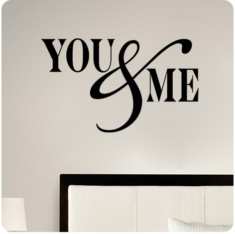 You & Me Wall Decal Sticker Art Mural Home Décor Quote