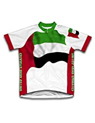 United Arab Emirates Flag Short Sleeve Cycling Jersey for Women