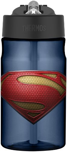 Thermos 12 Ounce Tritan Hydration Bottle, Superman Man of Steel