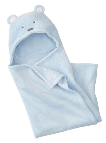 Genda 2Archer Baby Cute Bear Hooded Swaddle Wrap Infant Receiving Blanket Blue