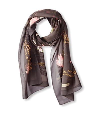 Salvatore Ferragamo Women's Silk Scarf, Plum Floral, One size