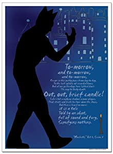 Shakespeare's Macbeth Educational Laminated Poster. Eco-friendly, English Literature Art Print