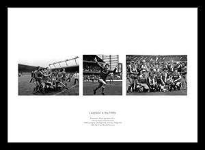 Framed Liverpool Fc In The 1980s Triple Photo Memorabilia