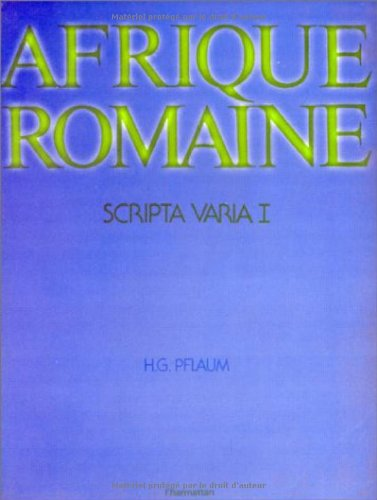 Afrique romaine. Scripta varia 1