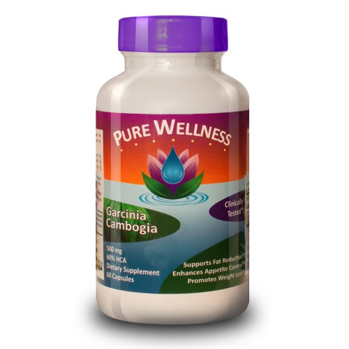Pure Wellness ★ Garcinia Cambogia ★ 500Mg ★ 60% Hca ★ 60 Capsules ★ Lose Weight Or Your Money Back ★ #1 Best Selling Weight Loss Formula As Recommended By Dr. Oz