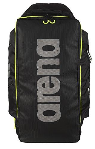 Arena, Fast Tri Triathlon, Zaino unisex, Nero (Fluo/Yellow), 70 x 47 x 15 cm, 80 litri