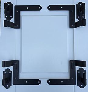Economy Shutter Hardware Kit Black For Frame Construction Offset