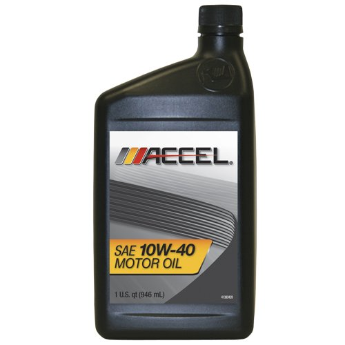Accel 61771 Sae 10w 40 Motor Oil 1 Quart Bottle Case Of