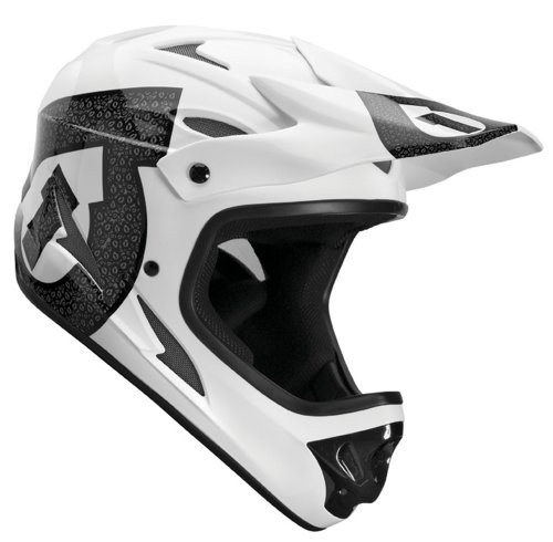 Sixsixone Comp Shifted Unisex Full Face MTB Helmet - White, Small
