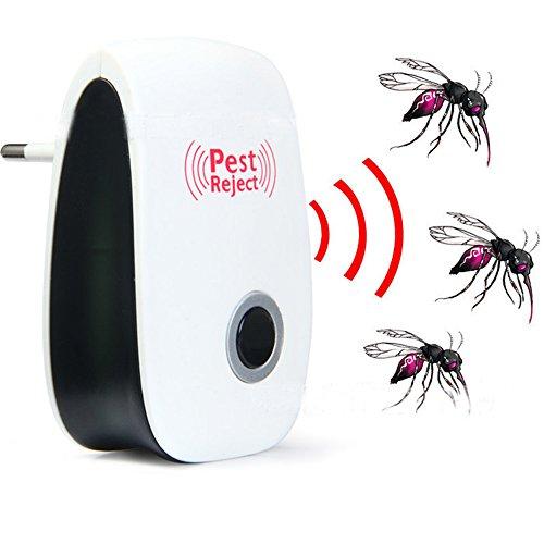 ANGTUO Intelligente ad ultrasuoni Repeller - Plug coperta a Pest elettronico repellente - eliminare tutti i tipi di insetti e roditori