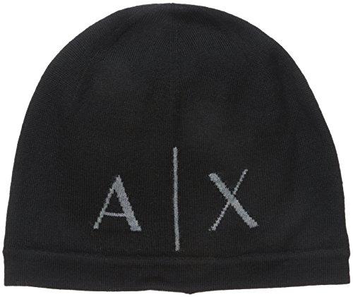 armani-exchange-mens-knit-beanie-black-white-one-size